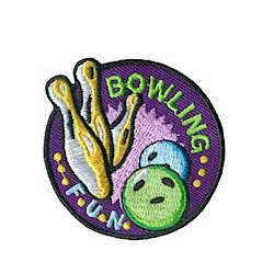 "Bowling Fun Patch – Purple. Bowling Fun Patch puts a ""strike"" in the column of fun, healthy activity. Encourages young people to keep moving to stay healthy. Available at MakingFriends.com"