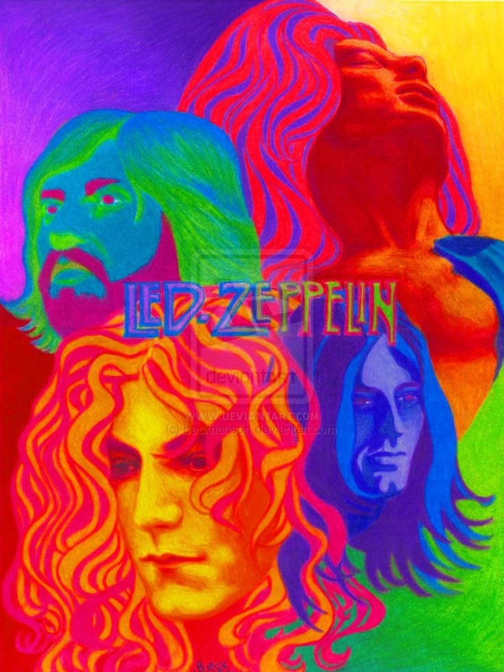 ☮ American Hippie Classic Rock Music ~ Psychedelic Art . . . Led Zeppelin..