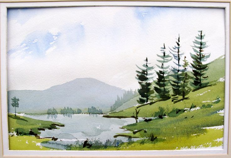 Painting Your First Watercolor Landscape Watercolor