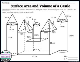 The Spectacular World Of Secondary Math: Activities to Encourage Collaboration #1: Surface Area and Volume of a Sand Castle!
