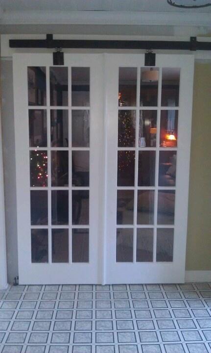 Barn door with french doors office pinterest doors for French door barn door