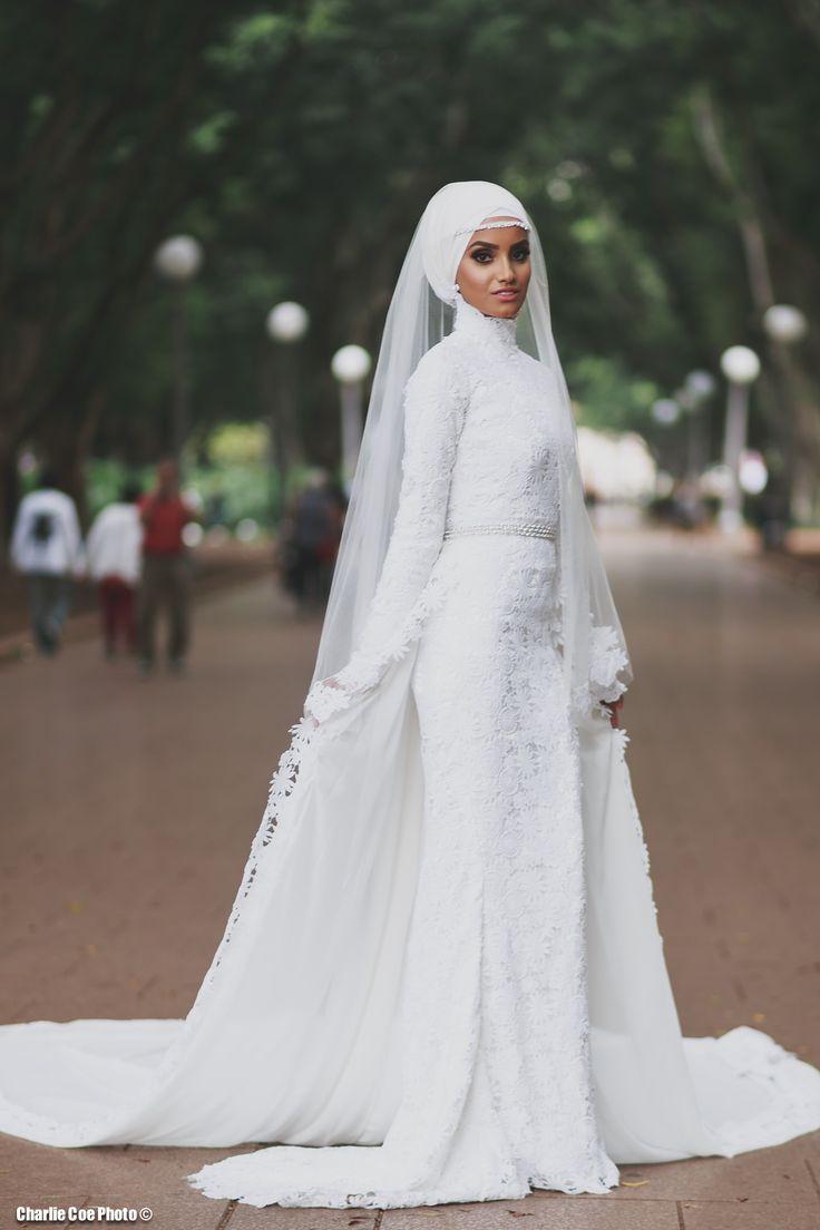 Simple beautiful bridal hijab #Hijab