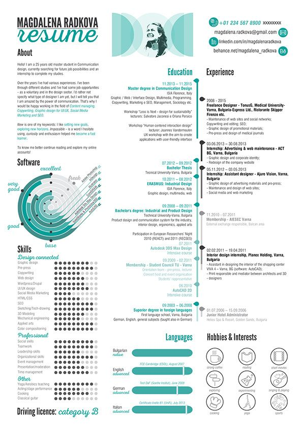 Find More Inspiration For Creative Resumes And Personal Branding At Olympiaresume