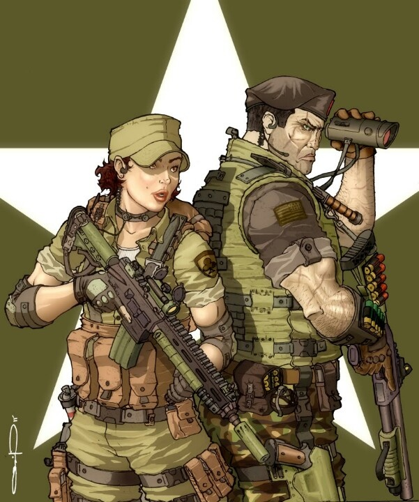 Lady jaye and Flint. My favorite GI Joe love story.