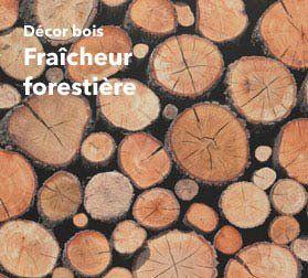 Retour à la nature : papier peint bois|Papier peint tendance look bois
