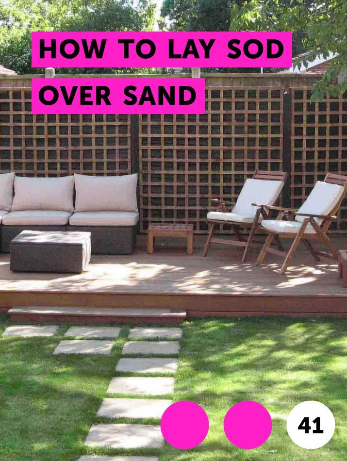 How To Lay Sod Over Sand Lawn Care Scotts Lawn