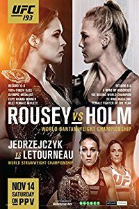 Amazon.com: UFC 193 Ronda Rousey vs Holly Holm Sports Poster 12x18: Posters & Prints