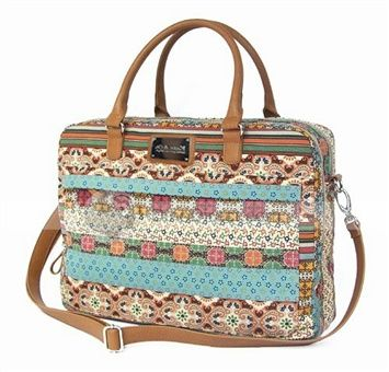 DinoDirect.com supplied the best Kate&Co. Colorful Bohemian Women's Computer Laptop Bag you like. Do you want to carry your laptop in a stylish way? This Colorful Bohemian Women Laptop Bag is what you need. This Women's Canvas Bag is finished with durable zipper closure for ease of use. And this Women's Laptop Bag is designed with excellent shock absorption and breathability features. There are two large inside pockets to organize your cables and gear, one organizer pocket, one cell phone…
