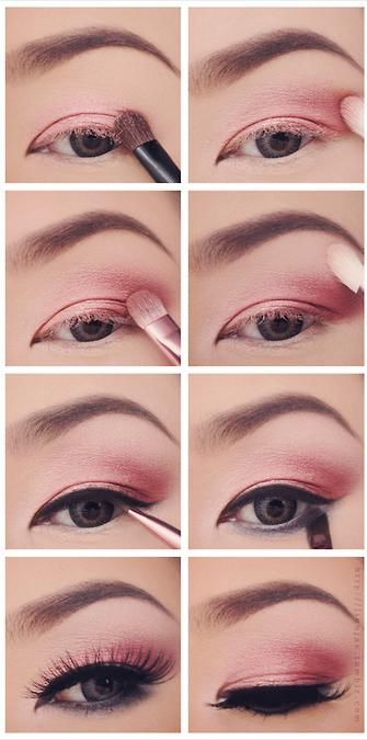 lovely #pink eye #makeup step by step