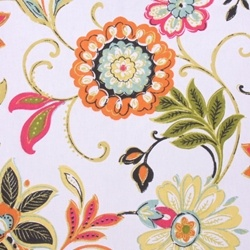 Avery Garden Floral Cotton Drapery Fabric by Richloom - Drapery Fabrics at Buy Fabrics