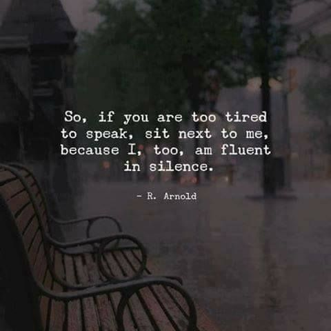 Silence can be beautiful and meaningful. #introvert