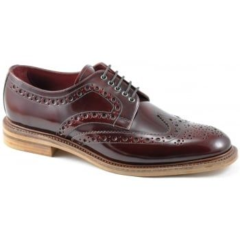 130 years of bench-made shoe-making techniques go into making every pair of these men's Loake Dawson brogues. No detail is compromised in this premium range of footwear. Finest leathers and Goodyear Welted leather soles ensure this is a shoe you will be proud to be seen in and enjoy wearing for many years. Available in a polished burgundy leather. https://www.marshallshoes.co.uk/mens-c1/loake-mens-dawson-lace-up-burgundy-brogue-shoes-p2739
