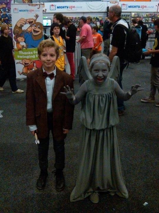 Please let my children want to be this.Halloween Costumes, 11Th Doctor, Doctors, Future Kids, Dr. Who, Costumes Ideas, Weeping Angels, Angels Costumes, Parents Win