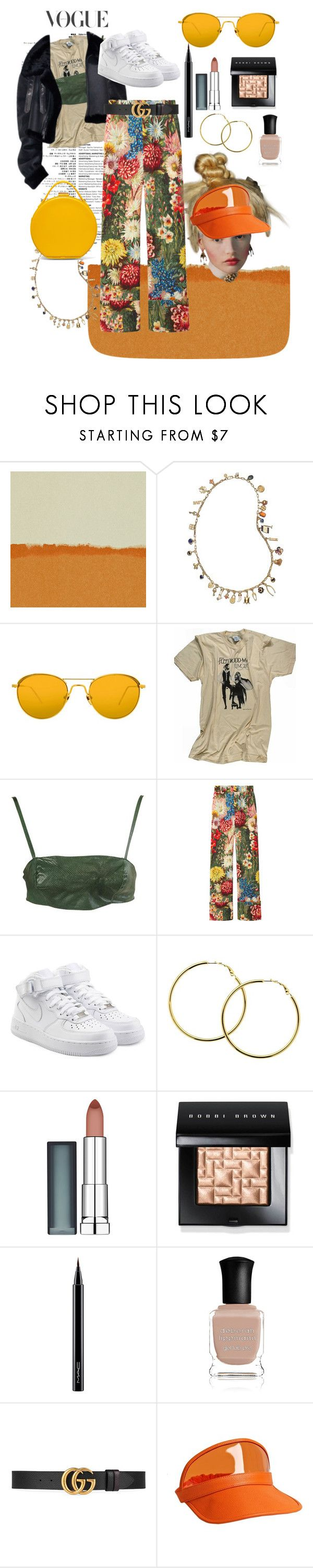 """Vintage vs Street Staples"" by diamondjennell ❤ liked on Polyvore featuring HARLEQUIN, Tory Burch, Linda Farrow, Retrò, Gucci, NIKE, Melissa Odabash, Maybelline, Bobbi Brown Cosmetics and MAC Cosmetics"