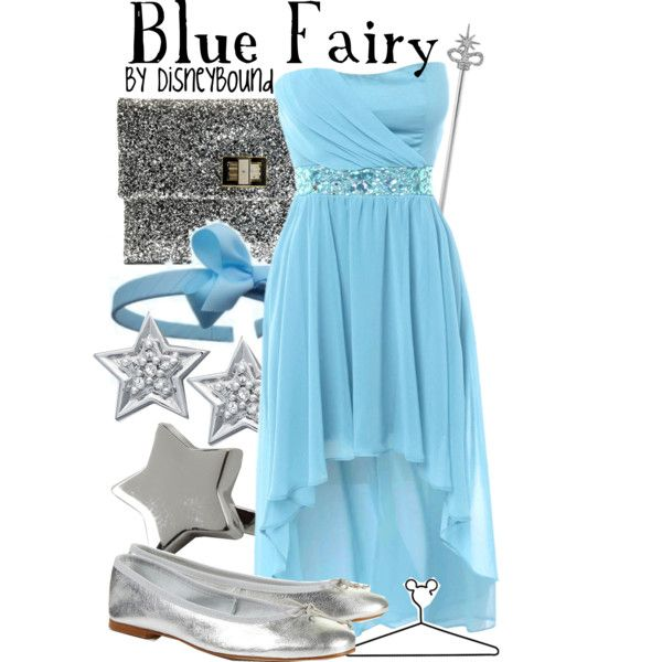Blue Fairy, created by lalakay on Polyvore #disney