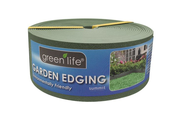 Plastic Garden Edging - Eucalypt Green.   Available in 10m x 75mm, 6m x 150mm and 10m x 150mm