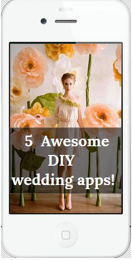 Want to make Paper flowers and backdrops for your DIY wedding? Watch Hundreds of videos,  How to and craft tutorials, Get etiquette advice.Pick your palette, shop wholesale decor sources and more! DIY  Wedding apps  with diy wedding crafts, Jewish wedding, military wedding, green eco-friendly wedding, beach destination weddings.   The Only wedding app suite for DIY brides! #paperflowers