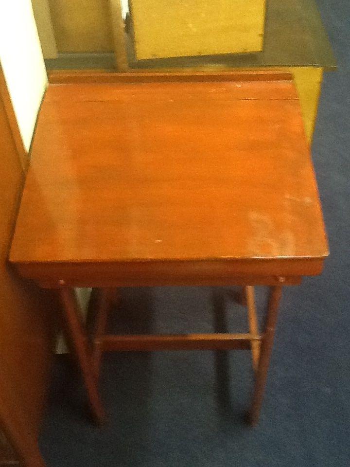 Old school child's weighting desk.