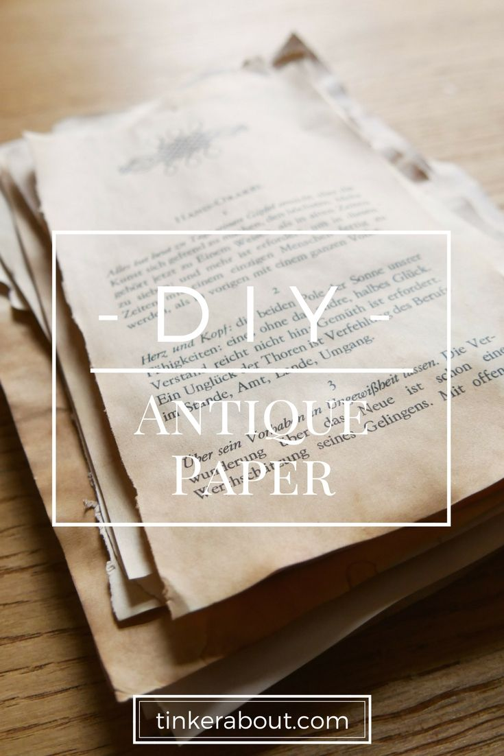Diy Antique Paper Hack Age Your Paper With Tea Or Coffee How To Age Paper Antique Paper Vintage Paper