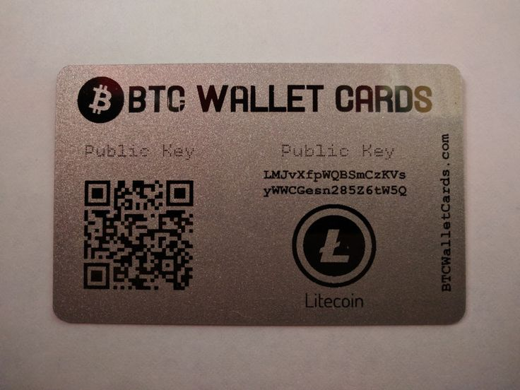Litecoin Cold Storage Wallet Cards. These are also