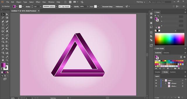 Pin On Penrose Triangle In Adobe Illustrator