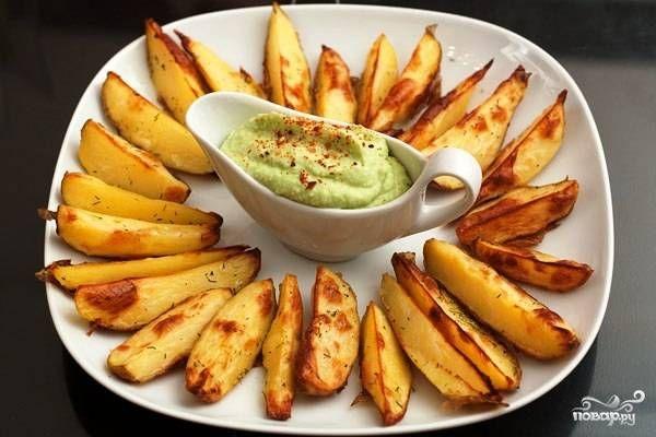 Печеный картофель с соусом из авокадо - пошаговый рецепт с фото на Повар.ру