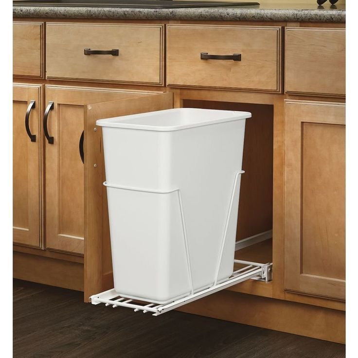30 Unique Undersink Trash Can Ideas, Pictures, Remodel and ...
