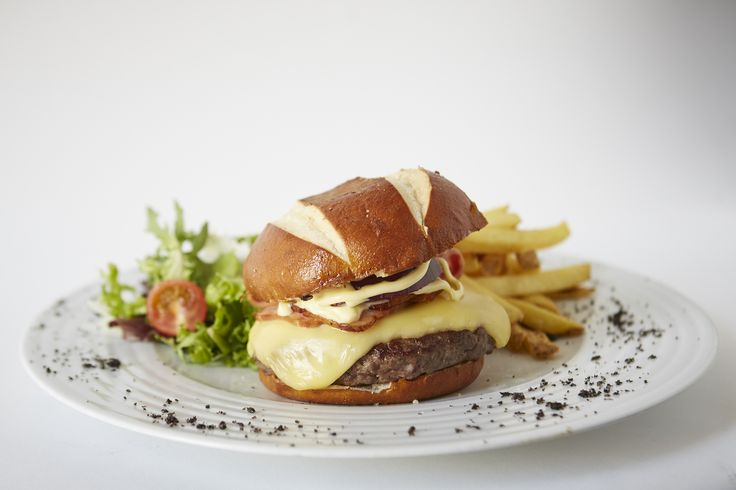 Pretzel burger. Feeling hungry but don't want to leave the room? No worries, just let us know what you want and call our Room Service #HRHIbiza #ThisIsHardRock #RoomService