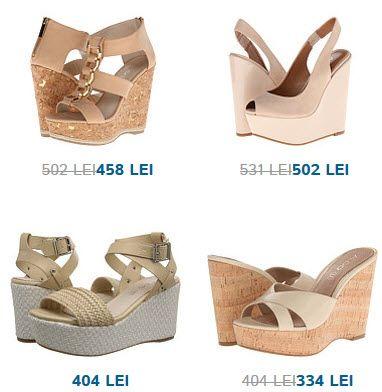 Sandale ALDO cu platforma de culoare crem. Toate 4 imi plac! Tu ai purta aceste modele?