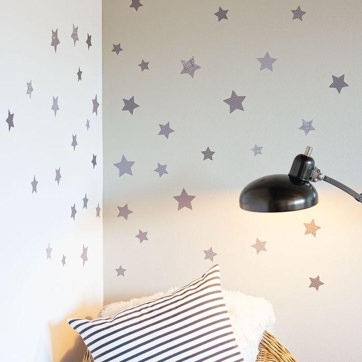 Petit Stars fabric wall decals. Mooie sterren voor de #kinderkamer leuk alternatief voor behang. #nursery
