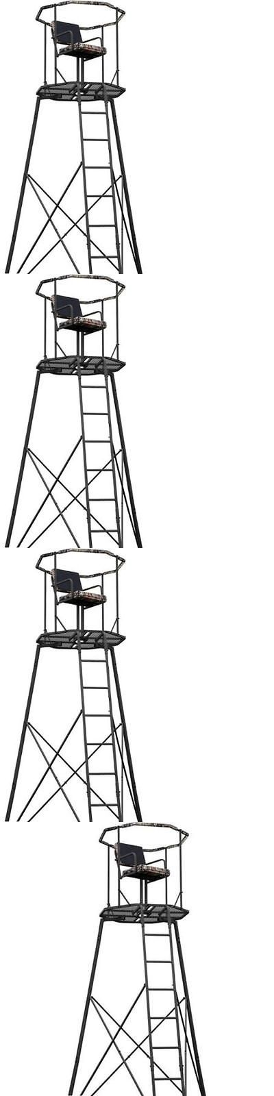 Tree Stands 52508: 15 Tripod Hunting Stand With Seat Tree Deer Ladder Bow Treestand Realtree New BUY IT NOW ONLY: $1224.97
