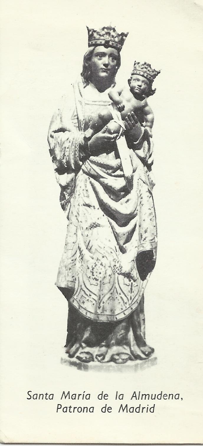 Santa María de la Almudena. Patrona de Madrid. LVA-35