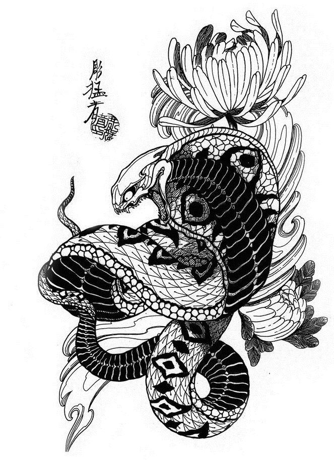 Эскизы тату со змеей • Идеи и значения татуировок со змеями
