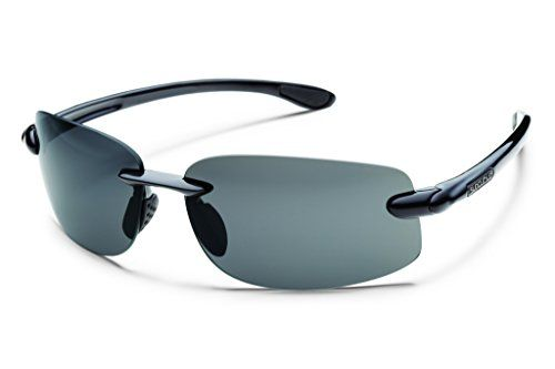 Suncloud Optics Excursion Sunglasses Black with Gray Polarized Lens -- More info could be found at the image url.