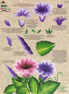 One Stroke Painting, Flower Worksheet