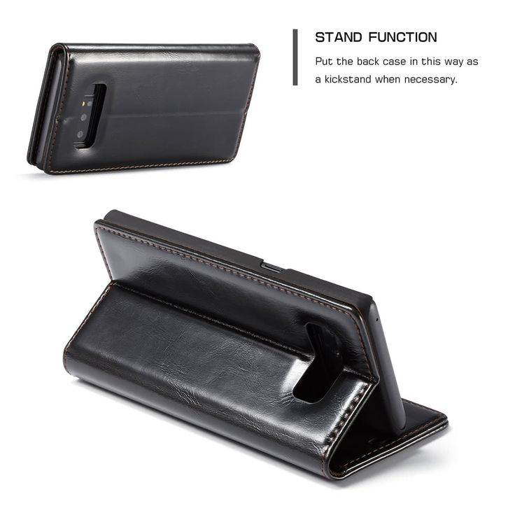CaseMe 003 Flip Multi-functional Wallet Protective Phone Cover Sales Online black - Tomtop.com
