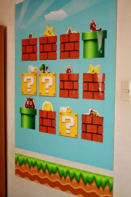 ideacentrífuga: Decoramos tu vida Juego de imanes interactivo para pared, tema mario bross