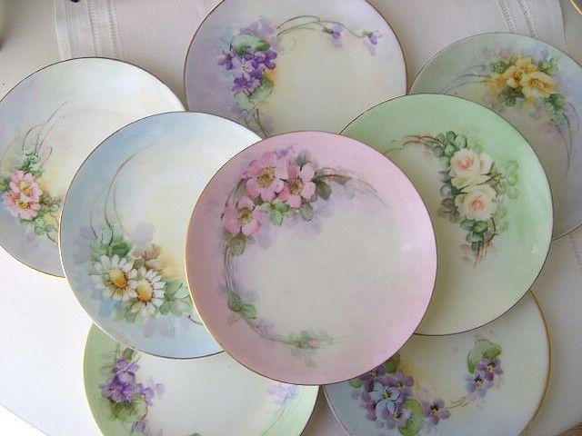 Yummy Sherbet Vintage Plates