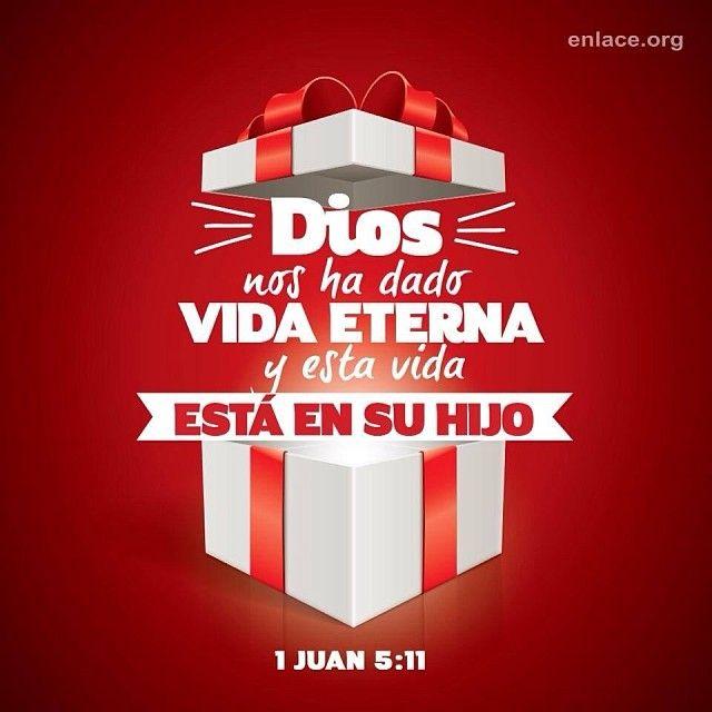El mejor regalo que puedas recibir es la vida eterna por medio de Jesucristo. #TenemosUnSalvador