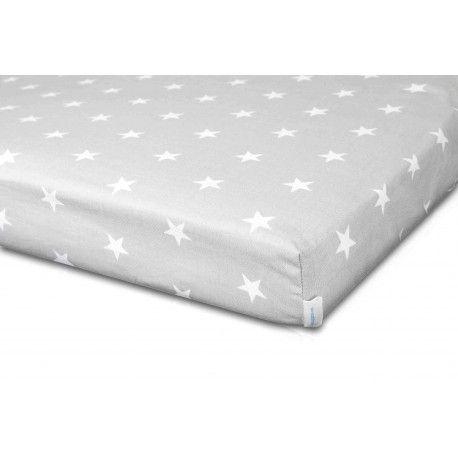 """Prześcieradło """"Silver&White Stars"""". Eleganckie prześcieradło  wykonane z 100% certyfikowanej bawełny zapewni komfort i wygodę nawet najbardziej wiercącemu się śpiochowi :)"""