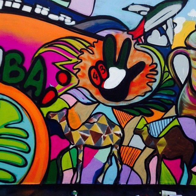 12/2/14 Graffiti art of Rehlatna, in celebration of National Day PHOTO: pawanshilpi