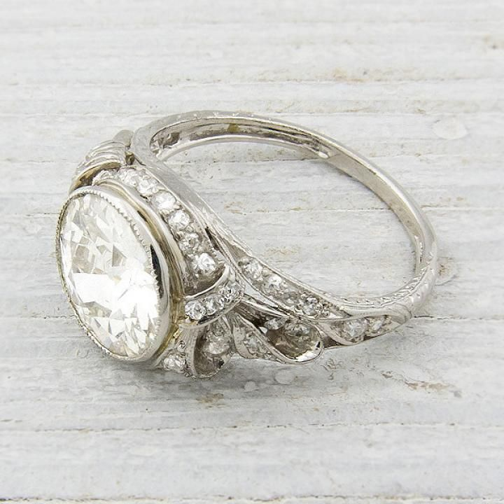 antique engagement rings wedding style inspiration lane - Antique Style Wedding Rings