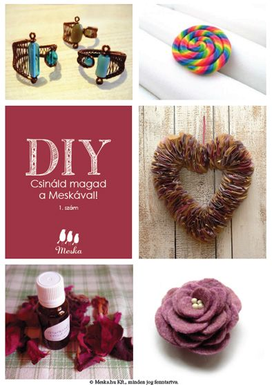 Csináld magad a Meskával! #diy #ring #lollipop #rose #brooch #heart #decoration #cosmetology