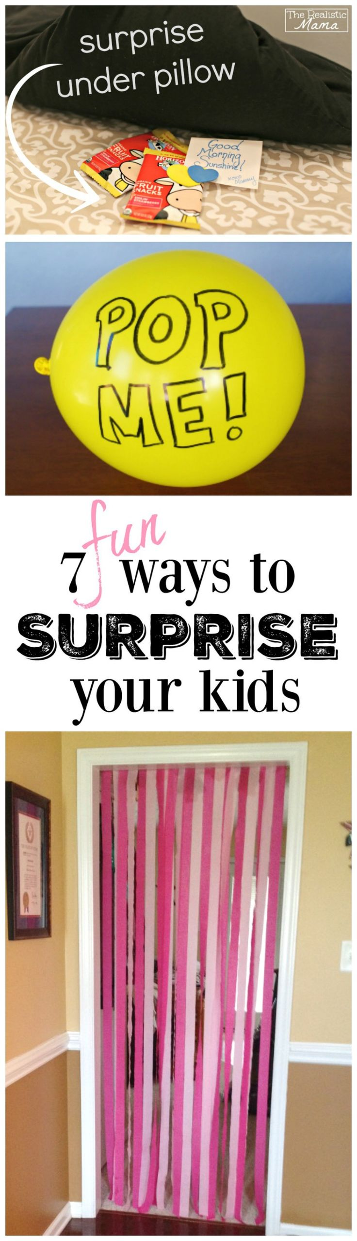 7 IDEAS TO SURPRISE YOUR KIDS - the kids will love all of these, we did #7 this morning and it was a huge hit! #sp