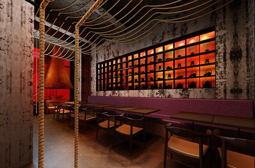 Kemuri Shanghai Restaurant by Prism Design in Shanghai, China, inspired by Tarantino's Kill Bill films.