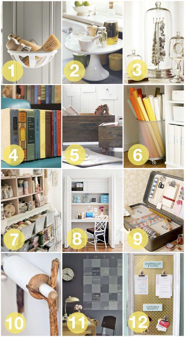 12 ways to creatively organize