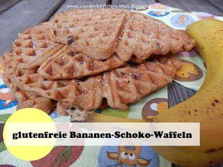 Rezept glutenfreie Schoko-Bananen-Waffeln  ideales Rezept für Kinder  http://zauberhaftekruemel.blogspot.co.at/2016/08/rezepte-glutenfreie-bananen-schoko.html