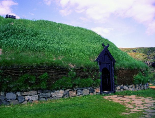 Viking house, reconstructed in Iceland