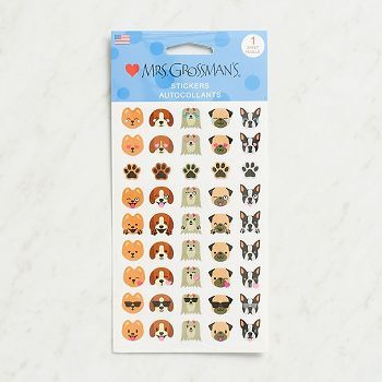 Get the best of two worlds with these emoticons featuring your favorite dogs.  Express yourself with these fun canine stickers. Each pack contains one 4 x 6.5 sticker sheet of 45 stickers.