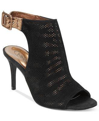 Zapatos negros de punta abierta formales Coolway para mujer Usx5x